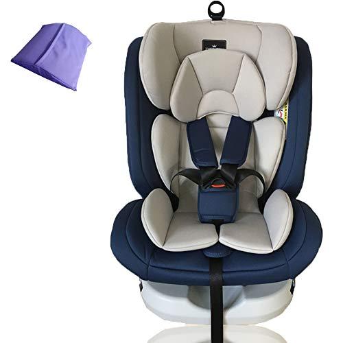 WWLONG Cómodo Asiento para automóvil para niños/niños, Asientos Seguridad para niños para la Parte Trasera del automóvil, Interfaz ISOFIX + Latch Asiento Elevador para automóvil, 0-12 años-WithoutI