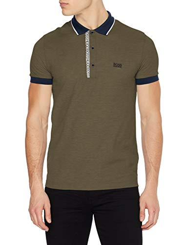 BOSS Mens Paule 4 Polo Shirt, Dark Green (306), S