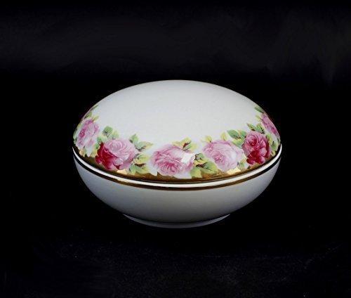 Boîte ronde rosenbordüre porcelaine
