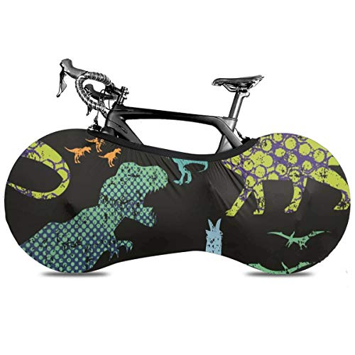 Prv0o T-Rex Dinosaurs Outdoor Bike Cover For Mountain And Road Bikes Indoor Storage Bag
