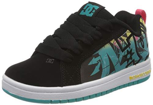 DC Shoes Jungen Court Graffik SE Skateboardschuhe, Grau (Multi Mlt), 35 EU