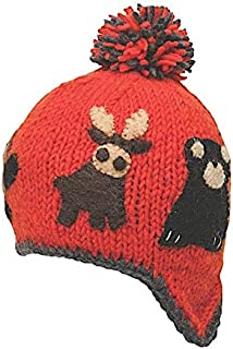Kid's Warm Winter Wool Knit Canuck Beanie with Earflaps | Ethical Fair Trade Production | Handmade in Nepal