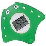 [page_title]-Badethermometer Baby, Wasserthermometer Baby, Badethermometer Baby digital, mit LED Warnalarm, Uhr- und Timerfunktion, Fisch Design,dunkelgrün
