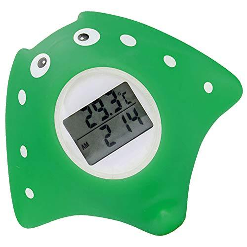 Termometro da bagno per bambini, termometro digitale per camera, giocattolo da bagnetto galleggiante nella vasca da bagno con allarme LED, anatra gialla (Mobula)