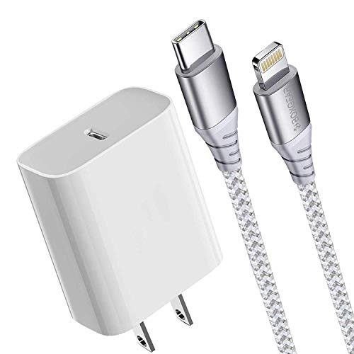 Boxgear iPhone Charger 10 ft - MFi Certified Braided Lightning Cable for iPhone 12/11/ Pro/Max/X/XS/XR/XS Max/ 8/ Plus/7/7 Plus/6/6S/6+ - Charges 50% in 30 Minutes - Phone Charger for Apple Devices