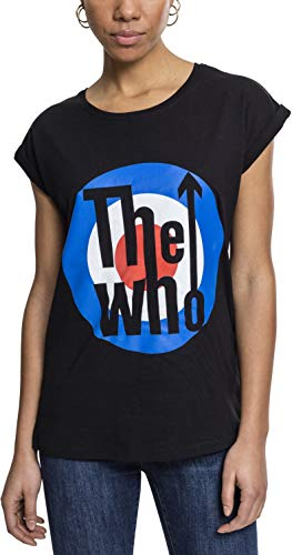 MERCHCODE Damen Ladies the Who Classic Target Tee T-Shirt, Black, S