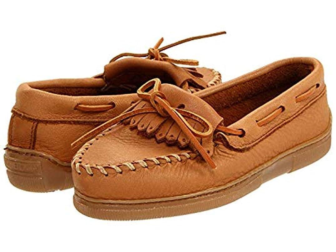 気をつけて空港ピボットレディースローファー?靴 Moosehide Fringed Kilty Natural Moosehide (23cm) M [並行輸入品]