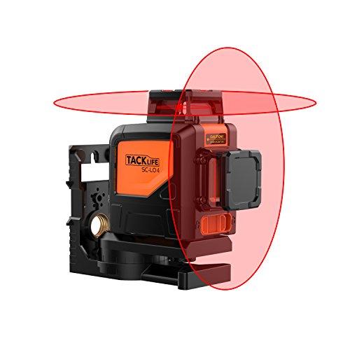 360ºx2 Nivel Láser con Autonivelación, Tacklife SC-L04, 30M,...