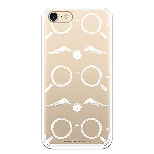 Funda para iPhone 7 - iPhone 8 - iPhone SE 2020 Oficial de Harry Potter Gafas Siluetas para Proteger tu móvil. Carcasa para Apple de Silicona Flexible con Licencia Oficial de Harry Potter.