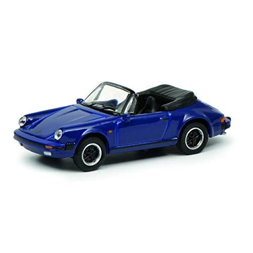 Schuco 452635200 452635200-Porsche 911 3.2, blauw 1:87, modelauto, modelvoertuig, donkerblauw