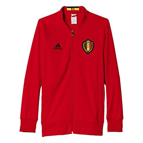 adidas Herren Belgien Anthem Trainingsjacke, Rot/Schwarz, S-46