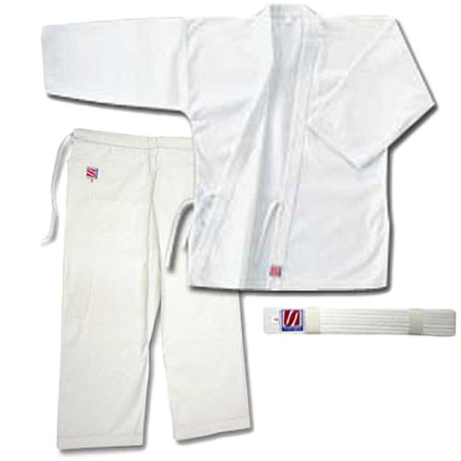 リングレット普通に批判的九櫻(クサクラ) 合気道衣 晒11号帆布 3号 (上衣、ズボン、帯セット) A23