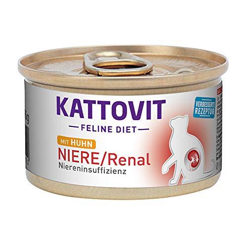 Kattovit Feline Diet Niere/Renal Huhn, 85 g - 12 stück