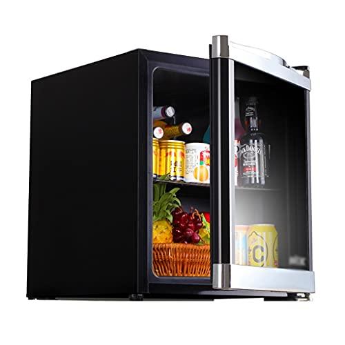 Refrigerador Pequeño con Puerta De Vidrio Refrigerador Pequeño Cosmético Refrigerado Retro para El Hogar Mini Refrigerador para Dormitorio Refrigerador Portátil Fácil Ajuste