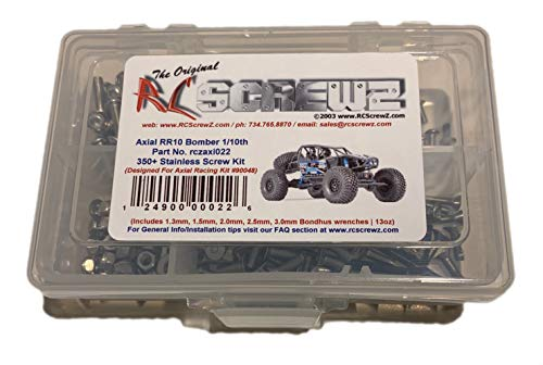 RCScrewZ Axial RR10 Bomber Crawler 1/10th Stainless Steel Screw Kit - Axial Kit AX90048 - axi022