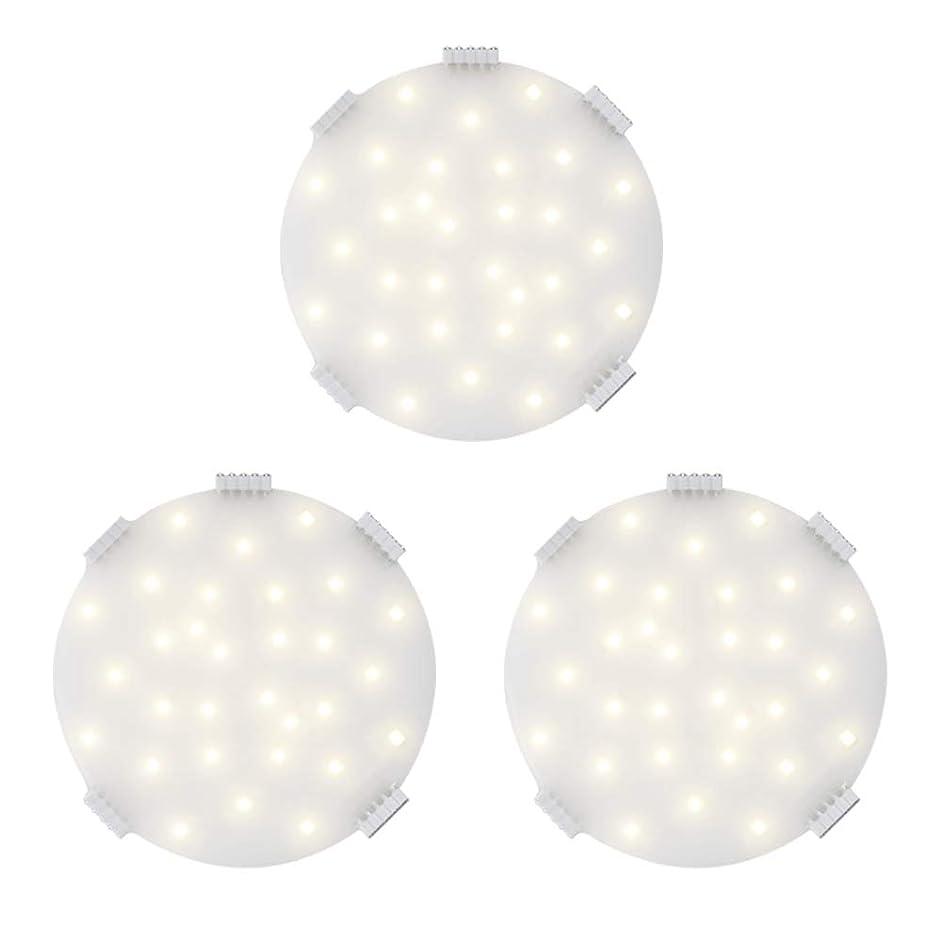 条約ティッシュ条約キッチンパネル DANCRA 円形 3mm超薄型 電球色 3枚セット LEDキャビネットライト 浴室 ショーケース 物置 倉庫 棚