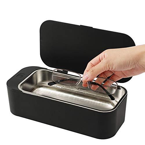 Signstek Ultraschallreiniger Reinigungsgerät 450ml 42000 HZ Ultraschallreinigungsgerät Ultraschallbad für Brillen Schmuck Schwarz