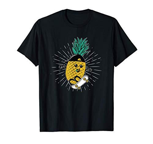 Ananas Hawaii Aloha Skateboarden Geschenk - Skateboarder T-Shirt