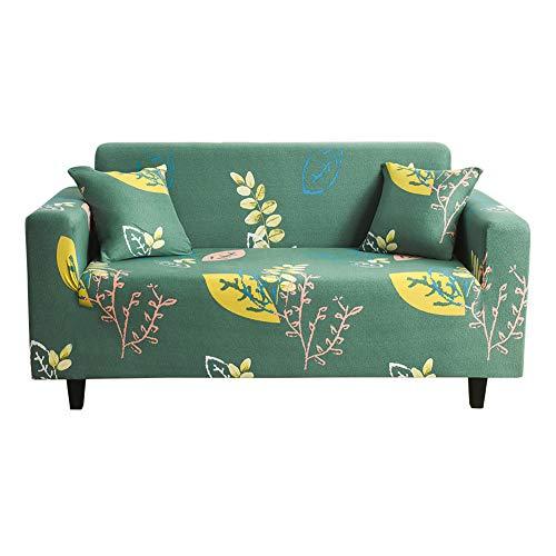 Settee överdrag sofföverdrag Klippan sofföverdrag elastiskt sofföverdrag sofföverdrag stretch soffa sätesskydd vilstol överdrag för fåtöljer överdrag soffa 90–140, grön gul