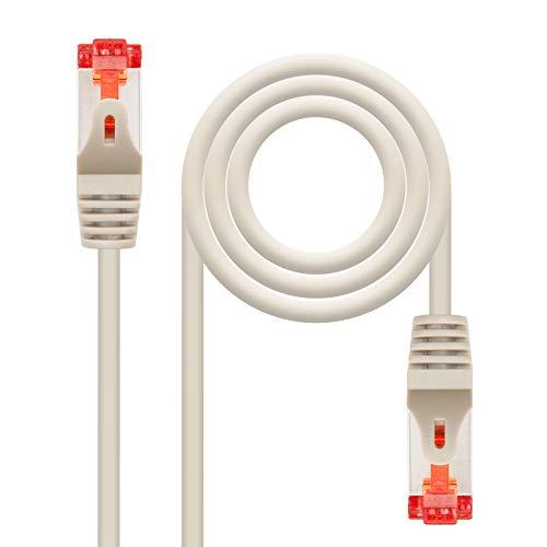 NANOCABLE 10.20.1202 - Cable de Red Ethernet RJ45 Cat.6 SSTP PIMF Flexible, AWG26, Gris, latiguillo de 2mts