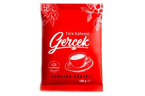 GERCEK türkischer Kaffee mild, türkischer Mokka Kaffee steingemahlen besonders feiner Mokkakaffee Pulver, säurearm (3)