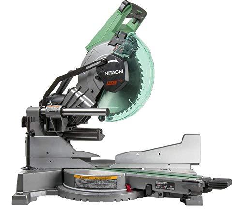 Hitachi C10FSHC 10' Sliding Compound Dual Bevel Miter Saw with Laser