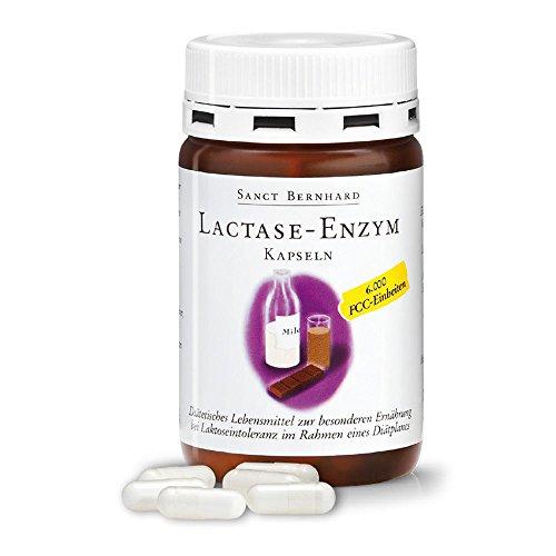 Lactasa-Enzimas - 150 Cápsulas con 6.000 FCC contra la Intolerancia a la Lactosa