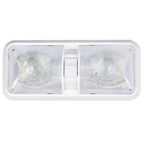 Kohree - Lámpara de LED para techo, iluminación interior para coche/RV/remolque/Camper/Barco DC 12 V Blanco natural 4000 – 4500 K 48 x 5050SMD 1 pezzo [Clase de eficiencia energética A+++]