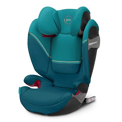 CYBEX Gold Kinder-Autositz Solution S-Fix, Für Autos mit und ohne ISOFIX, Gruppe 2/3 (15-36 kg), Ab ca. 3 bis ca. 12 Jahre, River Blue