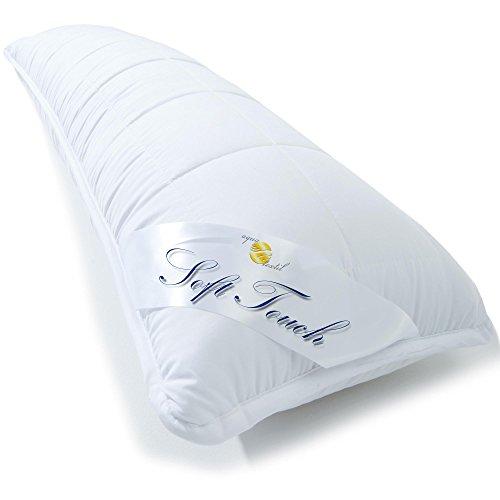 aqua-textil Soft Touch Seitenschläferkissen 40 x 120 cm Mikrofaser Stillkissen Hohlfaser Kissen Schwangerschaftskissen