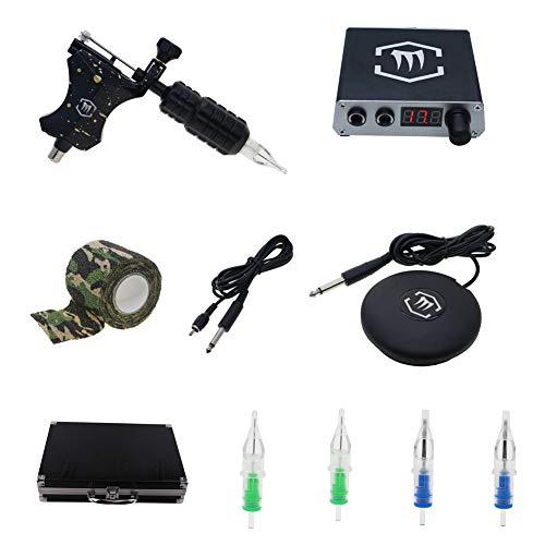 Mummy Rotary Tattoo Machine Gun Kits with Digtal Tattoo Power Supply Tattoo Kits Supply (KT007)