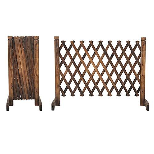 WXQIANG Gartenzaun aus Holz Faltbare No Dig Picket Fechten Barrier Cut Off Screen Blumenständer, 4 Größen (Color : Brown, Size : 250X120CM)