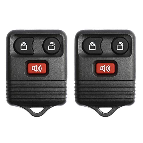 PeakCar (pack of 2) Black Car Key Fob, Keyless Entry Remote 3 Button Compatible...