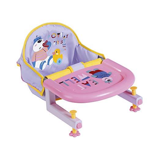 BABY Born 828007 Tischsitz für 43 cm Puppen - mit integriertem Tablett mit Tiermotiven - leicht für Kleine Hände, Kreatives Spiel fördert Empathie und Soziale Fähigkeiten, für Kleinkinder ab 3 Jahren