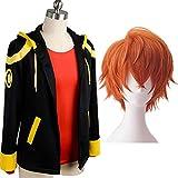 IPLD 707 Costume Jacket,Anime Mystic Messenger Cosplay Hooded Sweater Jacket (Jacket+Wig, S)