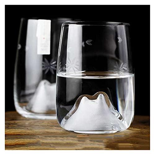 chenchen 280ml Fiori di ciliegio in Vetro Tazza di Vetro Giapponese Vetro di Cristallo Whisky Vodka Bar Club Vetro Birra Vetro Tazze di caffè Party Bar drinkware (Color : Snow)