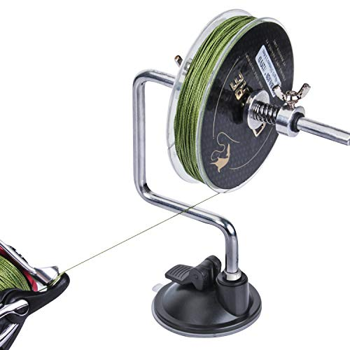Goture Portable Fishing Line Winder with Suction Cup Reel Spool Spooler System Tackle Silver Fishing...