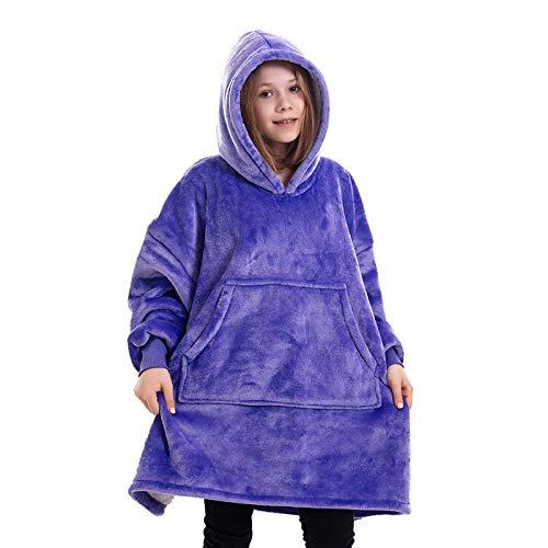 Aofanfs Decken-Hoodie für Kinder Übergroßes Sweatshirt Superweiches...