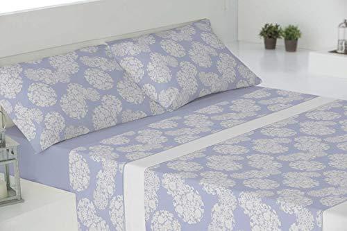 RAM'S sábanas de Invierno coralina Tacto sedalina- Luxury Soft-con Mayor Grosor y Calidad del Mercado (240 grs/m2),Ontario Azul. (para 150cm)