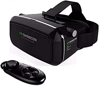 Hot VR Shinecon Bluetooth Virtual Reality 3D Glasses Headset for iPhone Samsung VR Bo 4.0-6.0 Inch Phone Google Cardboard ...