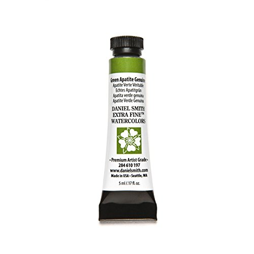 DANIEL SMITH, Green Apatite 284610197 Extra Fine Watercolors Tube, 5ml