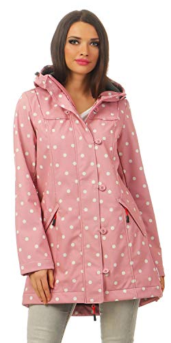 BLUTSGESCHWISTER - WILD WEATHER LONG ANORAK - Damen Jacke, Farbe:Rosa (marilyns dots);Größe:L