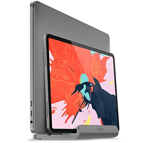 Bestand Vertical Laptop Stand Adjustable Aluminum Holder Compatible with MacBook Air/Pro/iPad/Microsoft Surface/Dell/HP/Samsung Dock (Size Up to 17.3 inches)