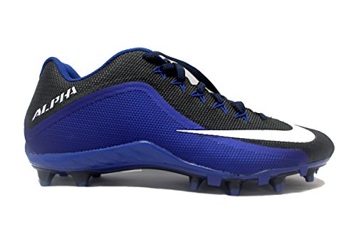 Nike Alpha Pro 2 3/4 TD Football Cleats (13, Black-White/Rush Blue)