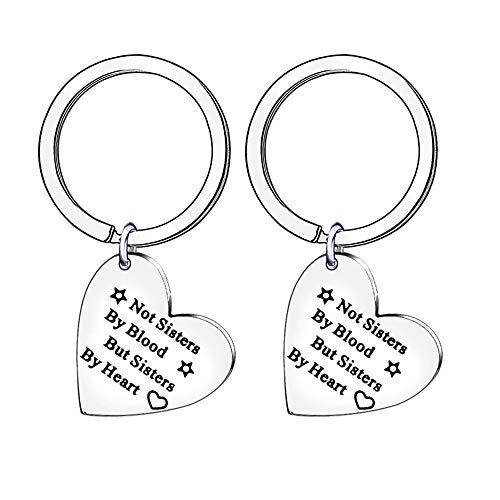2 portachiavi a forma di cuore, regalo ideale per un'amica, sorella o cognata