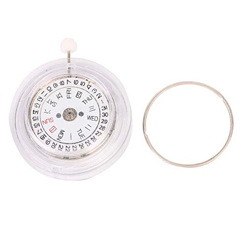 Salmue Personaliseer reservehorloge, reserveuurwerk + uurwerk met twee kalenders, om de datum in witgoud weer te geven.