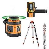 Pack laser rotatif automatique horizontal portée 600m FLG 190A GREEN + Trépied + mire GEO FENNEL 292195-S01