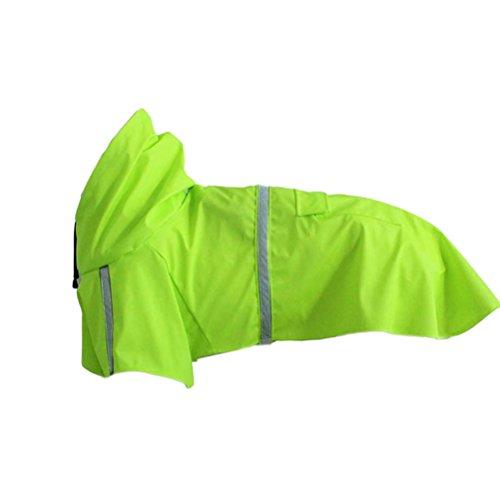 POPETPOP Impermeabile per Cani con Striscia Riflettente per Pioggia Cappuccio per Pioggia Riflettente per Cane Slicker Giacca Antipioggia per Cane e C