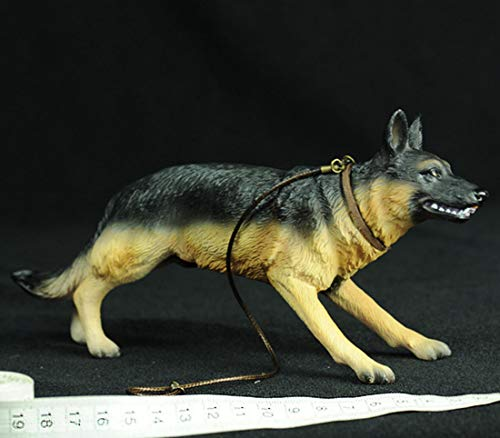 Haoun 1/6 Scale German Shepherd Figure Toy Police Dog, Army Action Figures Accessories - Without Clothes