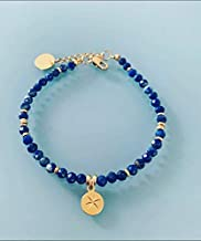 Lapis Lazuli bracciale e venti rosa, bracciale donna gourmet magico pietre naturali e 24k heishi perline, bracciale d'oro,...